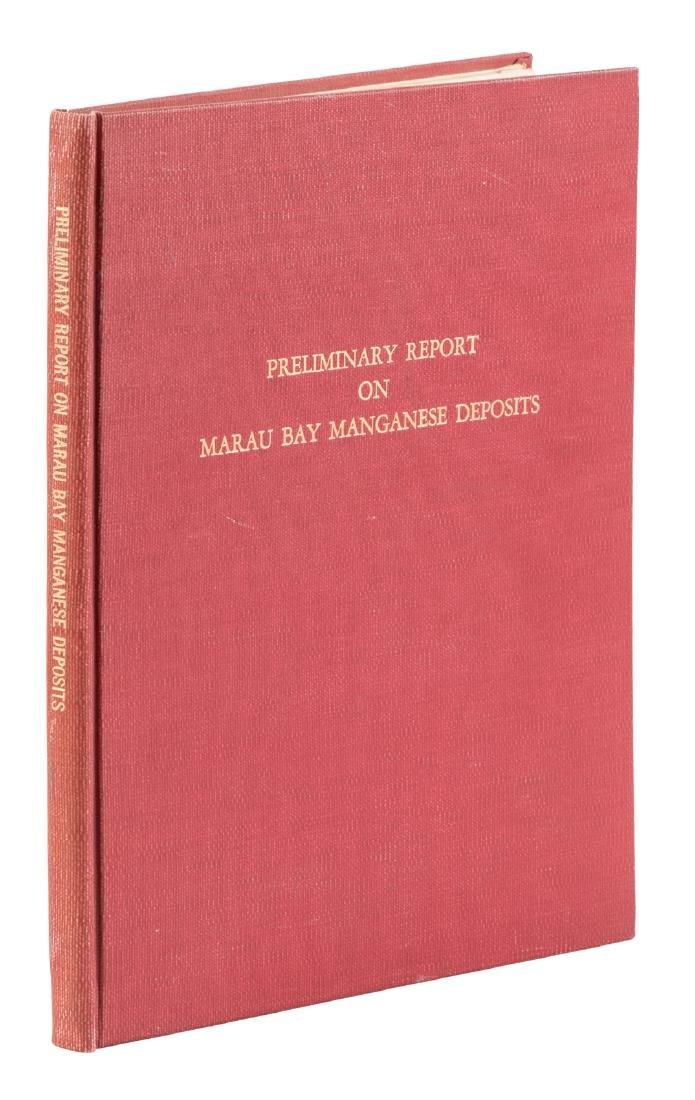 1959 Preliminary Report on Marau Bay Manganese Deposits