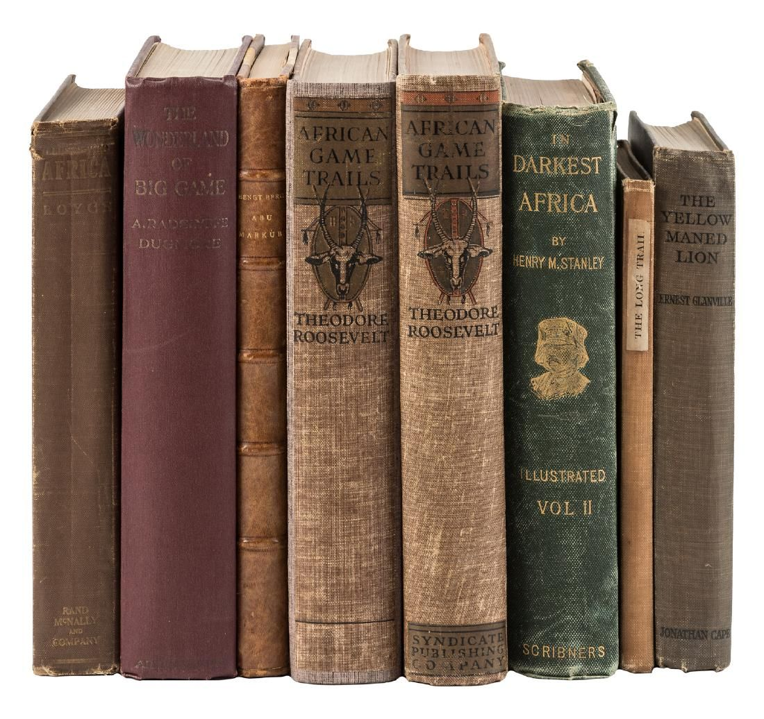 Eight volumes on hunting, travel and exploration
