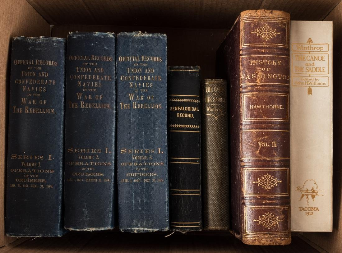 Seven volumes of Western Americana