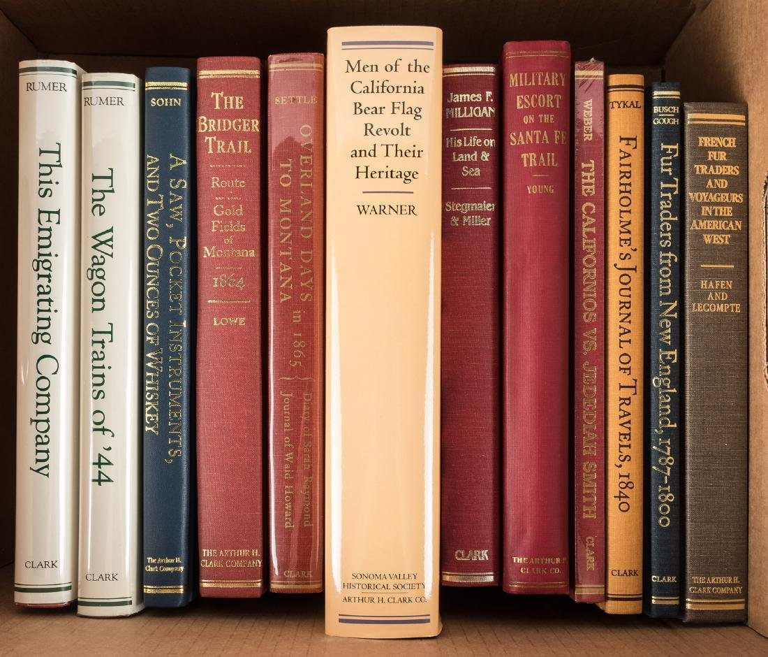 12 volumes of Western Americana by the Arthur H. Clark