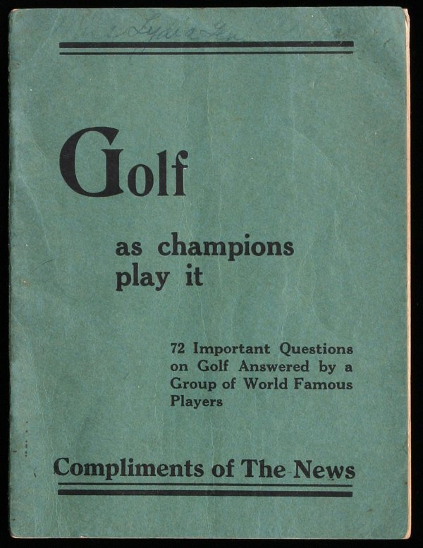 2012: Golf as Champions Play It
