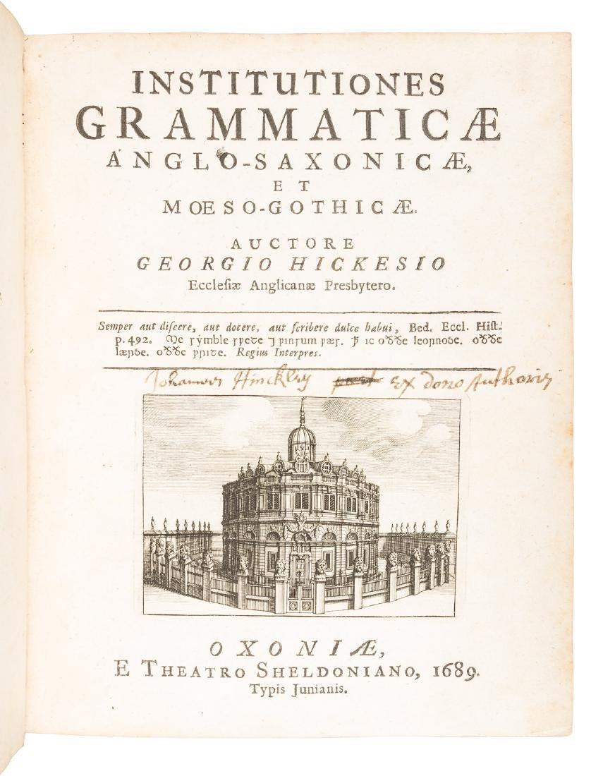 Anglo-Saxon grammar, 1689