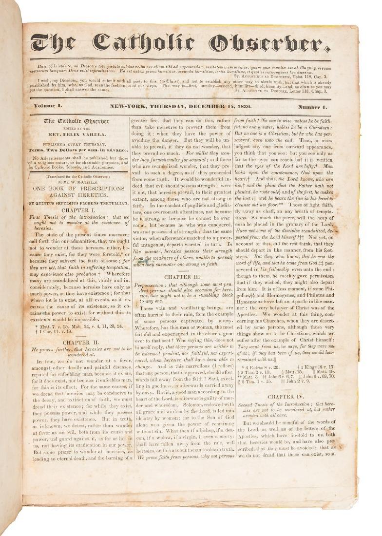 First Catholic Parish paper in New York
