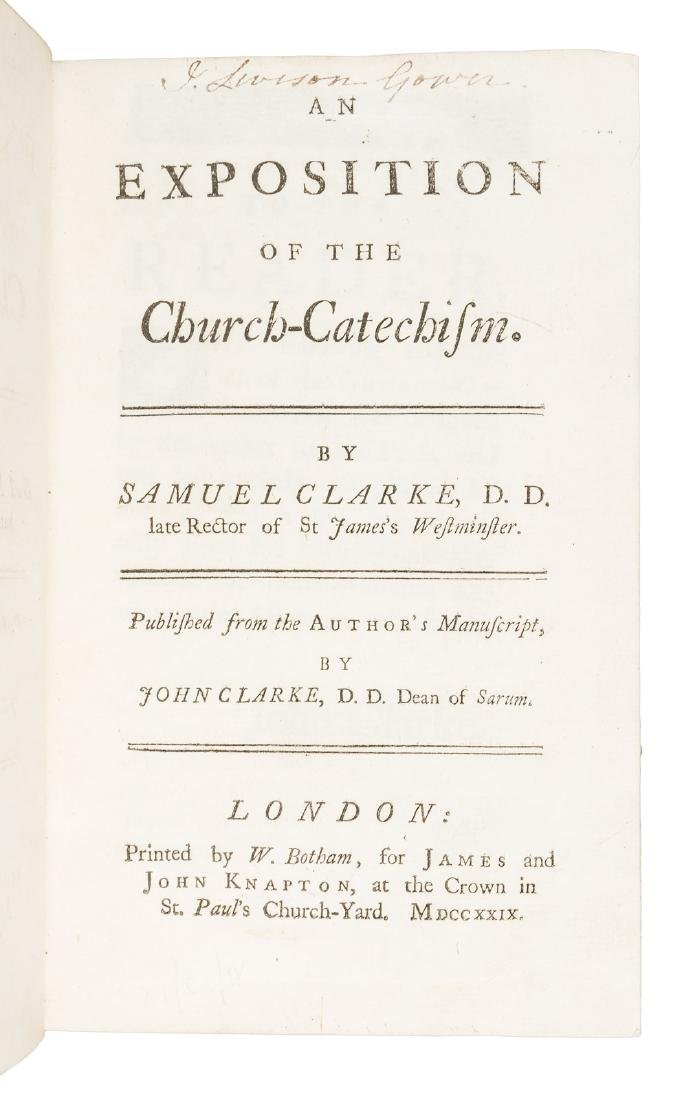 Church Catechism, Samuel Clarke's last work
