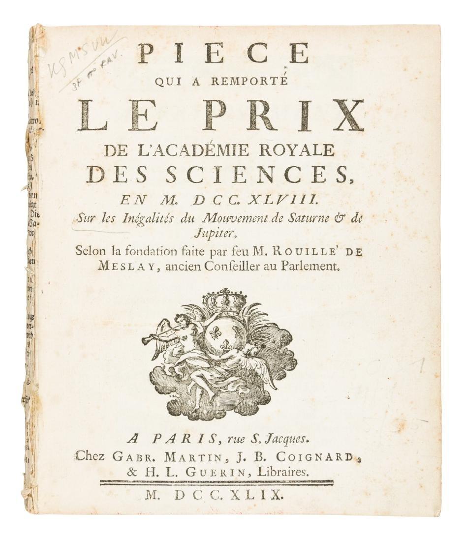 Euler on motion of Jupiter and Saturne, 1749