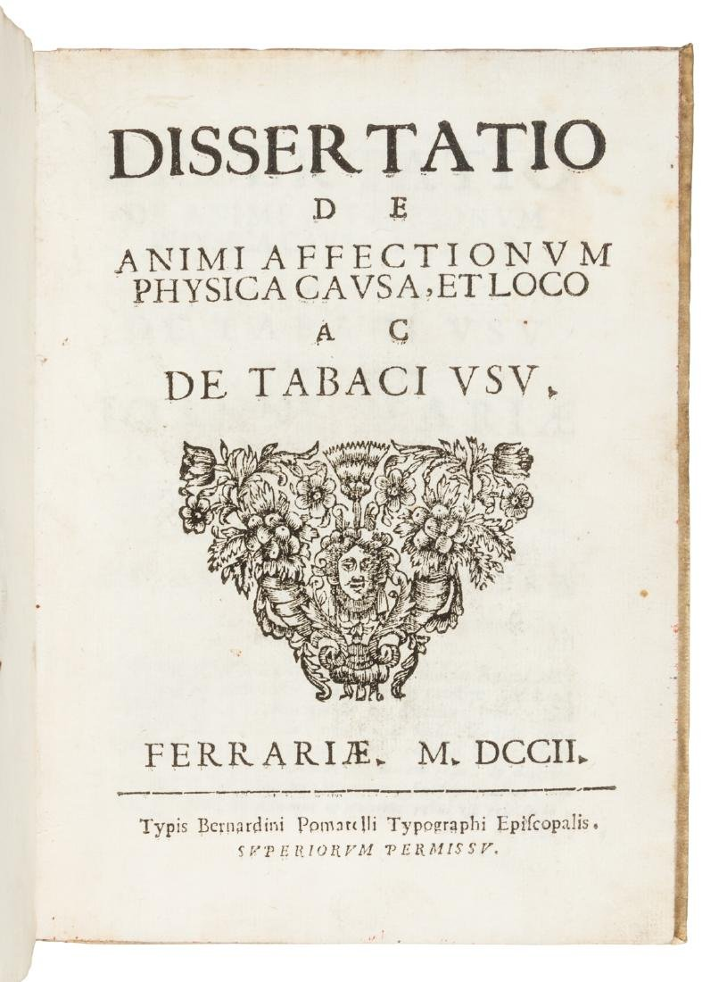 Treatise in Latin on the effects of tobacco 1702