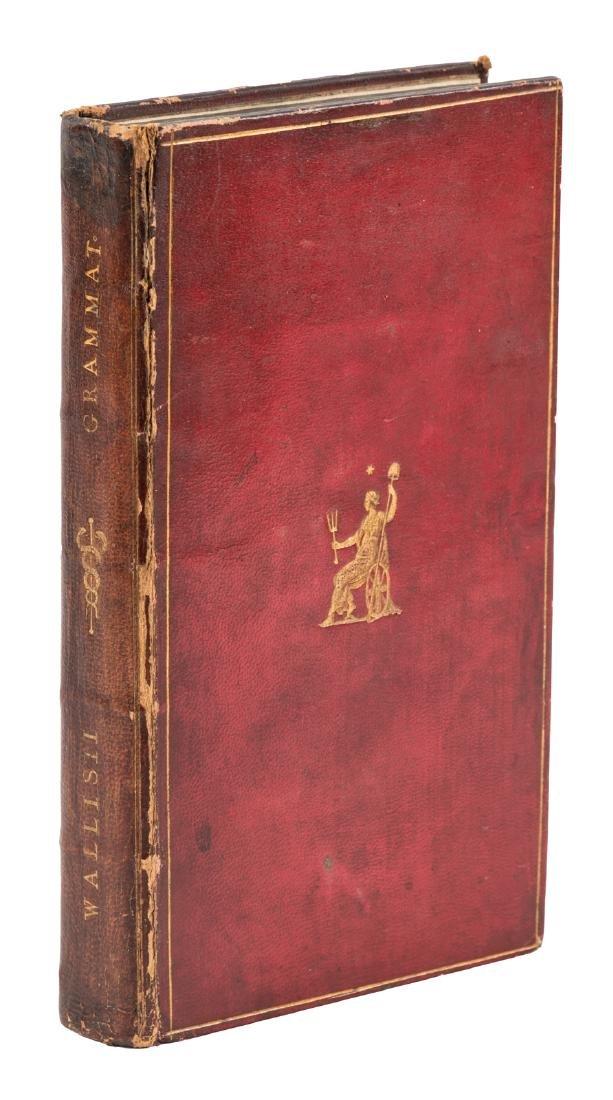 Wallis' English Grammar with Thomas Hollis binding