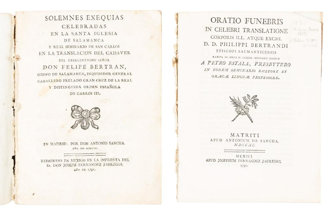 Mexican printing of Bishop of Salamanca's funeral