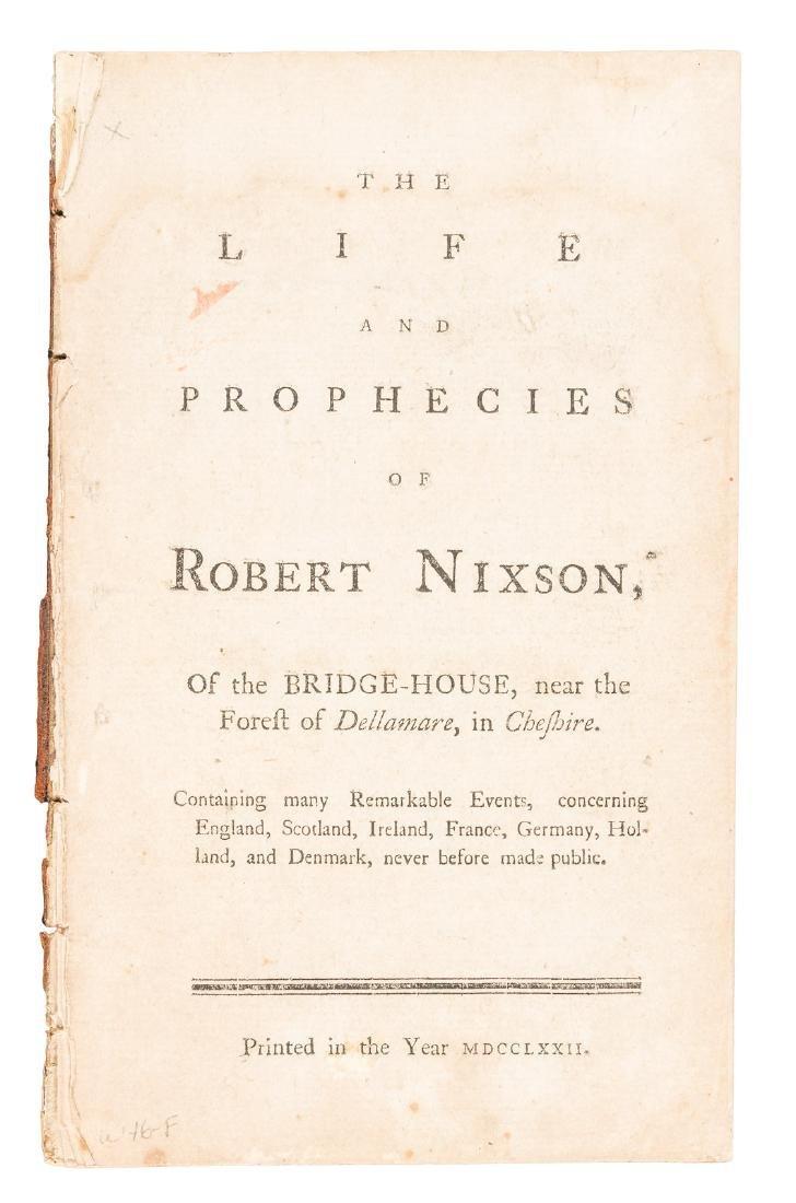 Prophecies of Robert Nixson, 1772