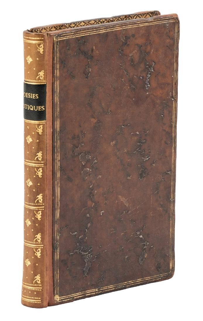Scarce 1st book of poetry by Evarist of Parny