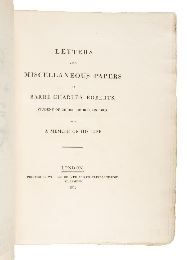 Letter and papers of Charles Barre Roberts