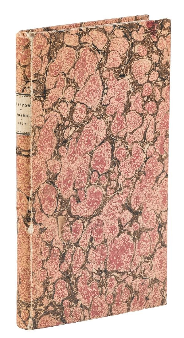 First collection of poetry by Thomas Warton