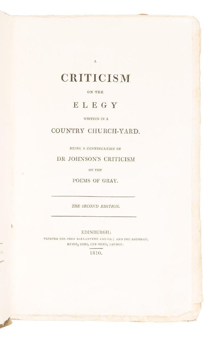 Parody of Johnson's criticism of Thomas Gray's poetry