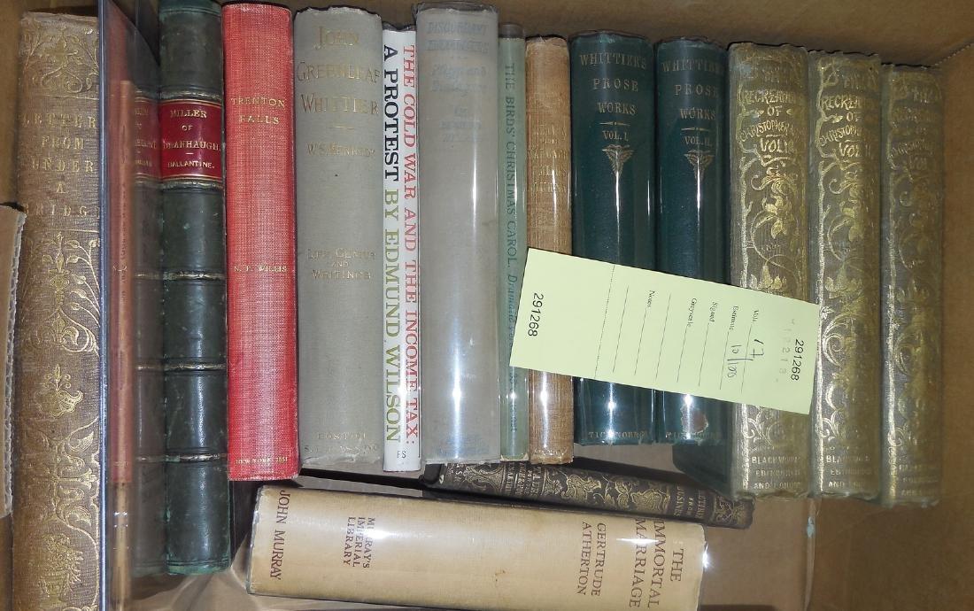 Seventeen volumes, mostly literature