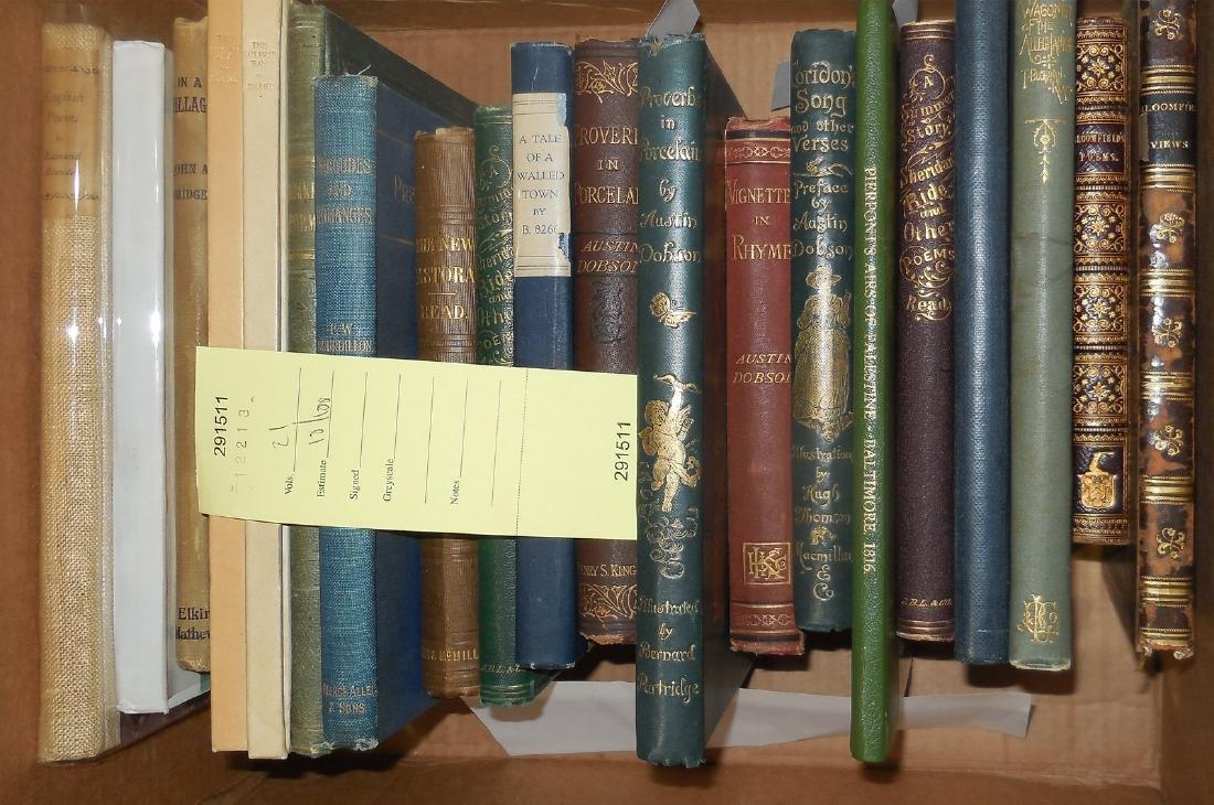 Twenty-one volumes of 19th century poetry