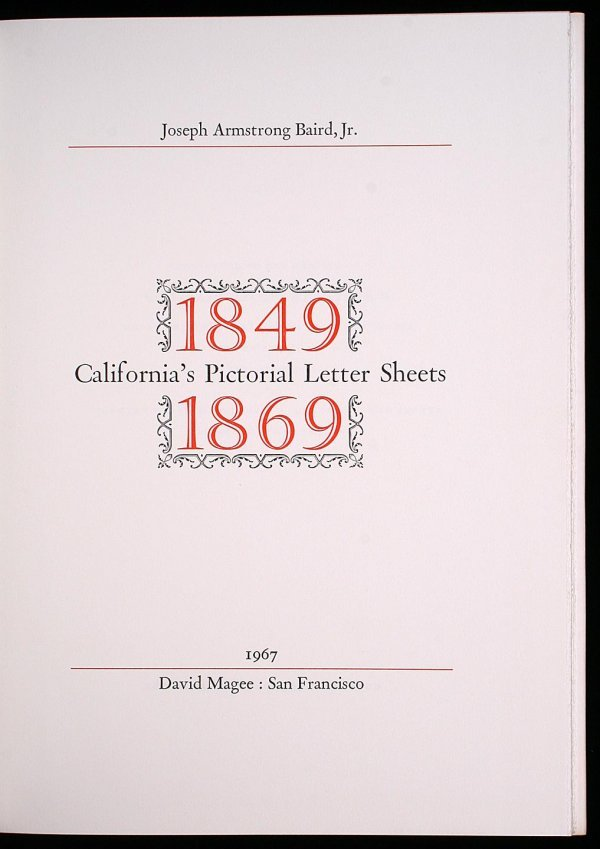 2013: California's Pictorial Letter Sheets, 1849-1869