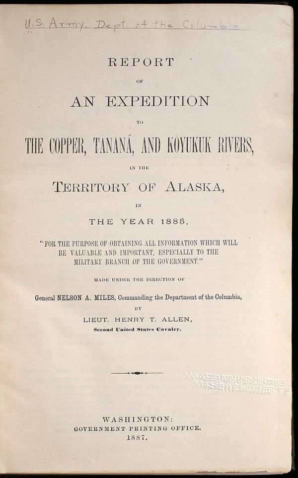 2005: Report of an Expedition to the Copper, Tanana, an