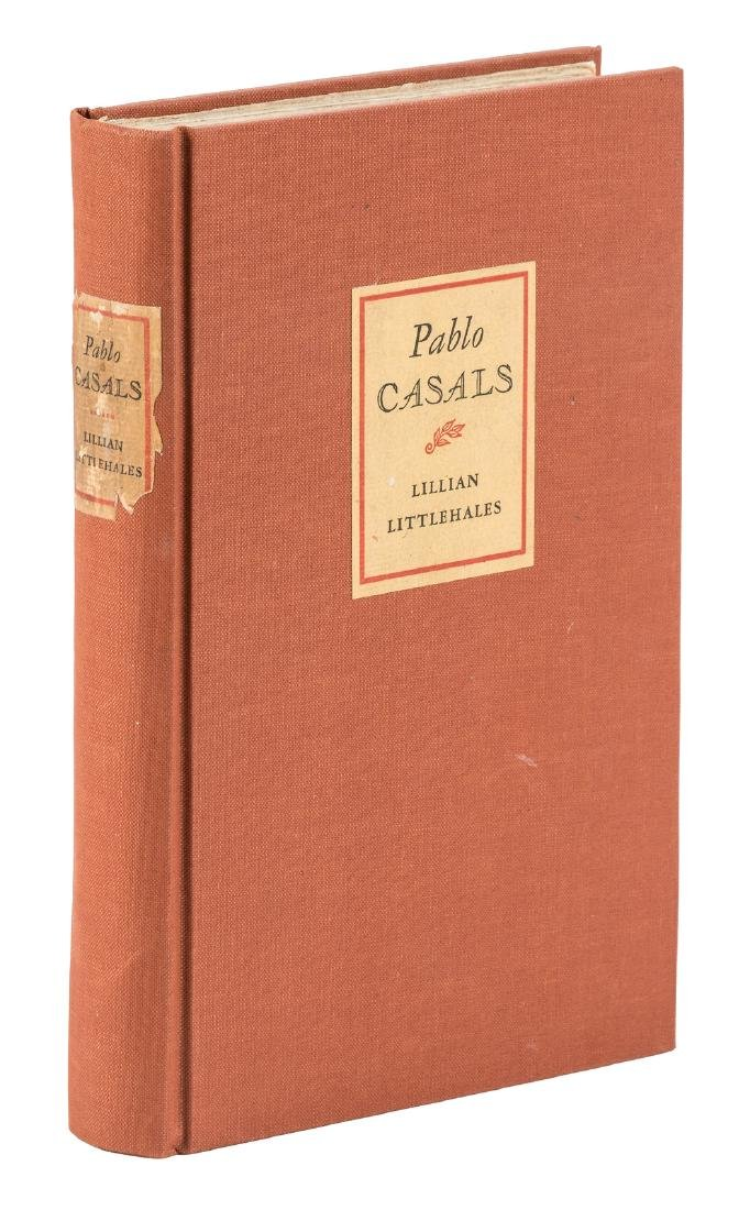 Pablo Casals biography signed