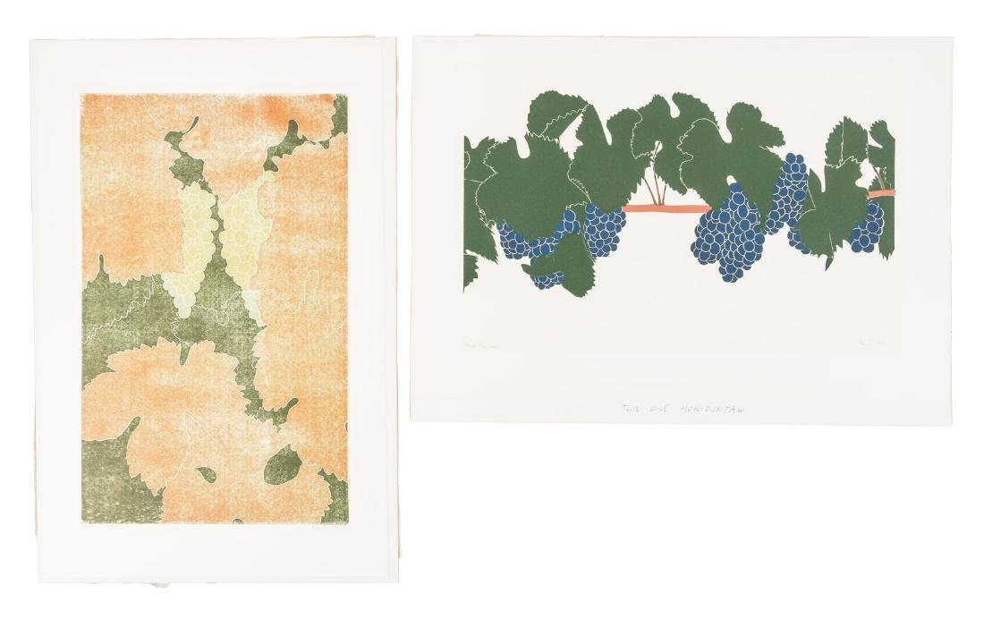Henry Evans prints of wine grapes