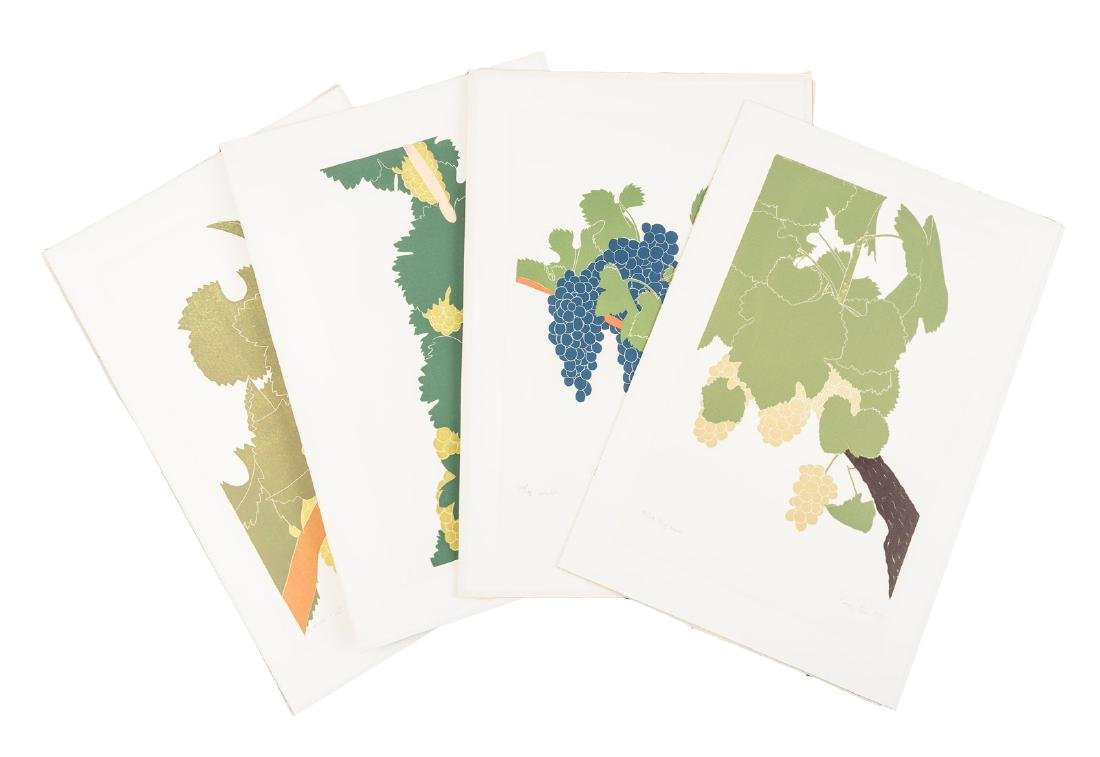 Henry Evans prints of wine grapes - 2