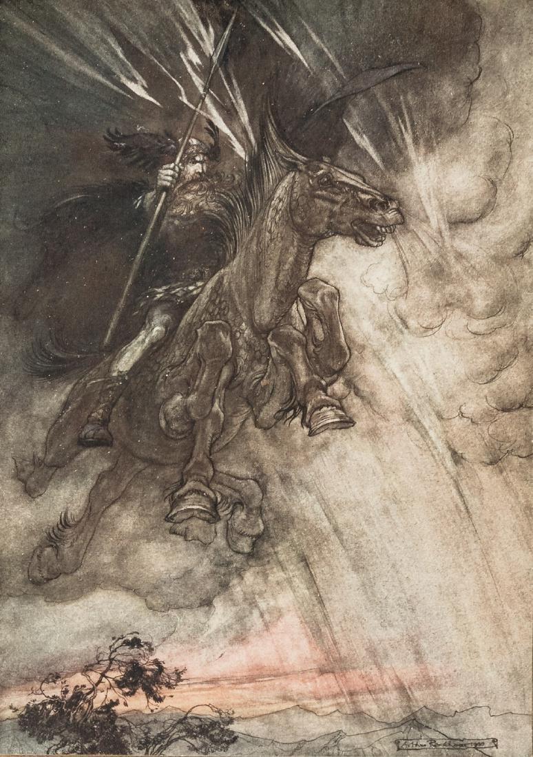 The Rhinegold & The Valkyrie Arthur Rackham