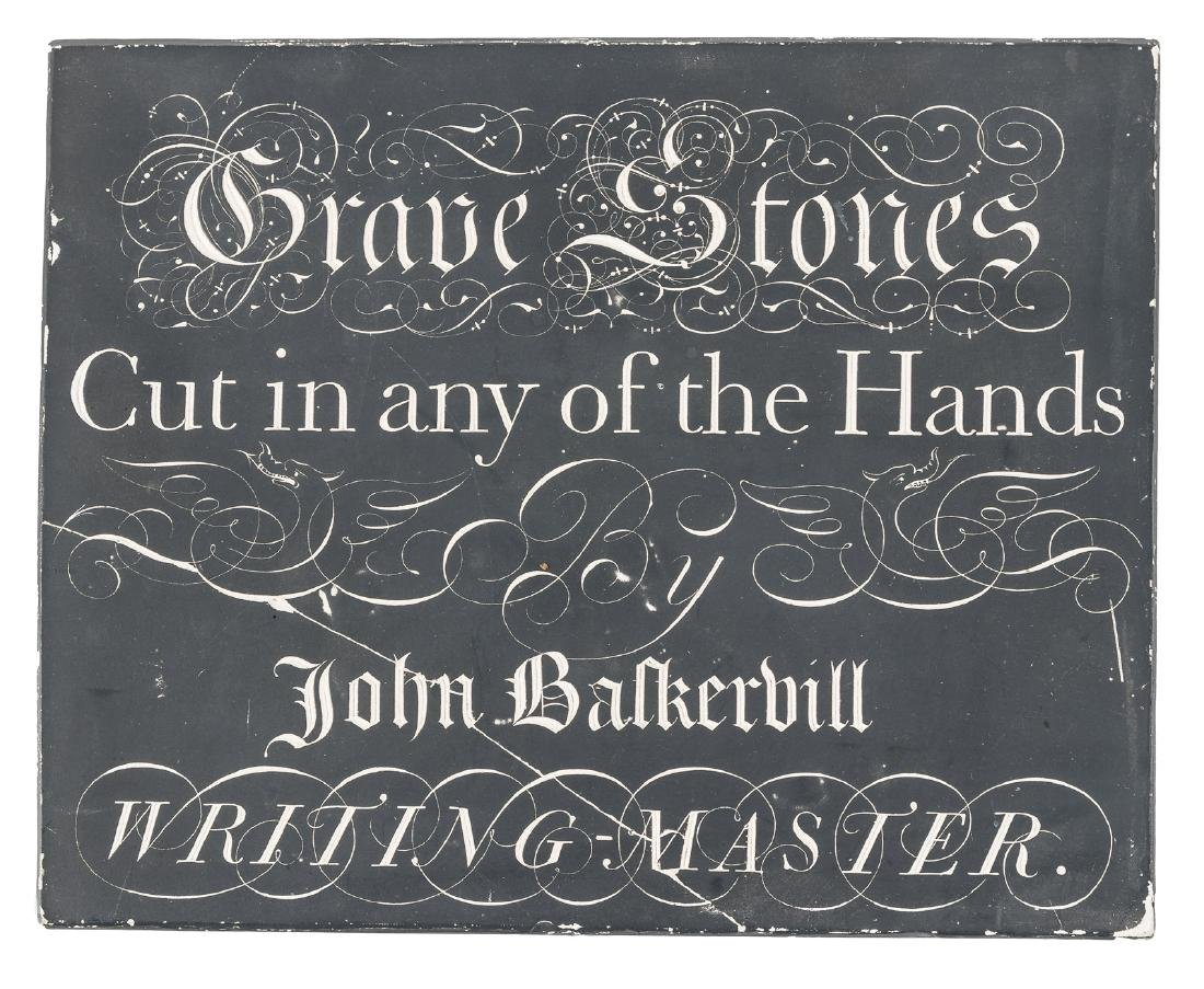 Casting of the famous Baskerville slate