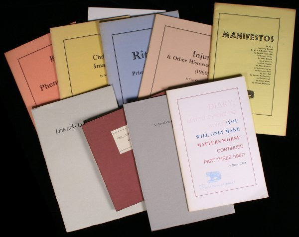 211: Lot of 10 literary pamphlets