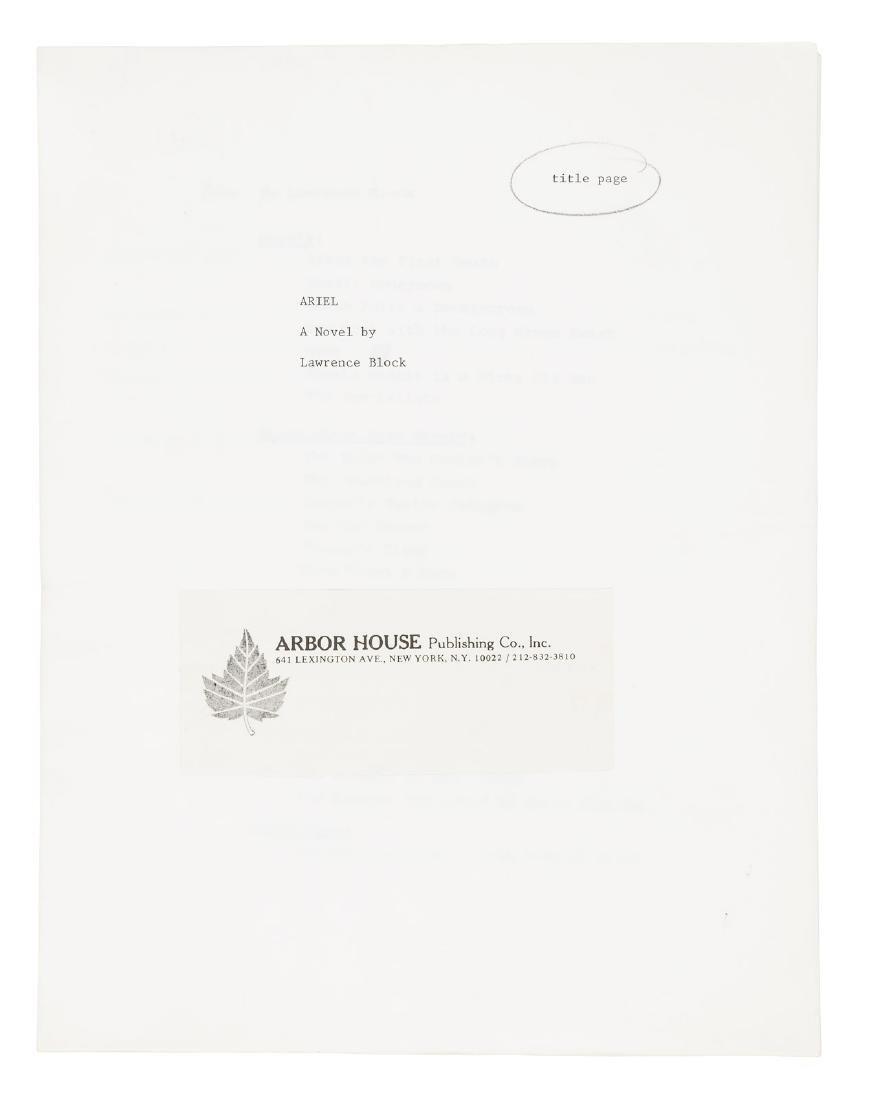 Lawrence Block's Ariel - original typescript and of