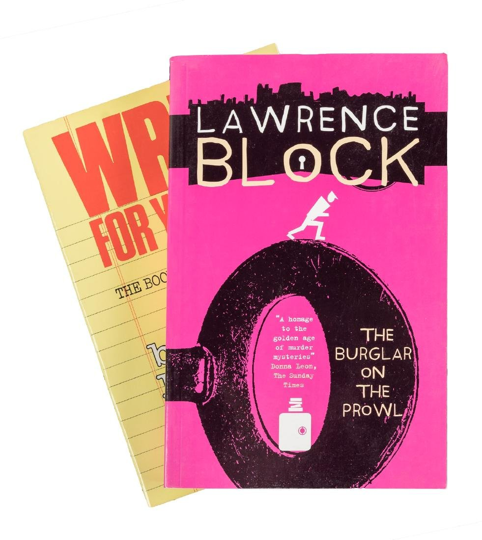 18 volumes signed by Lawrence Block