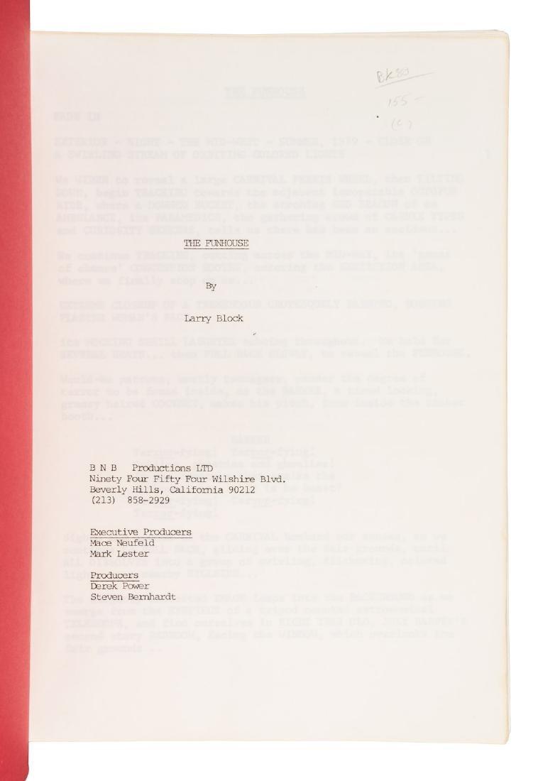 Lawrence Block Funhouse original screenplay