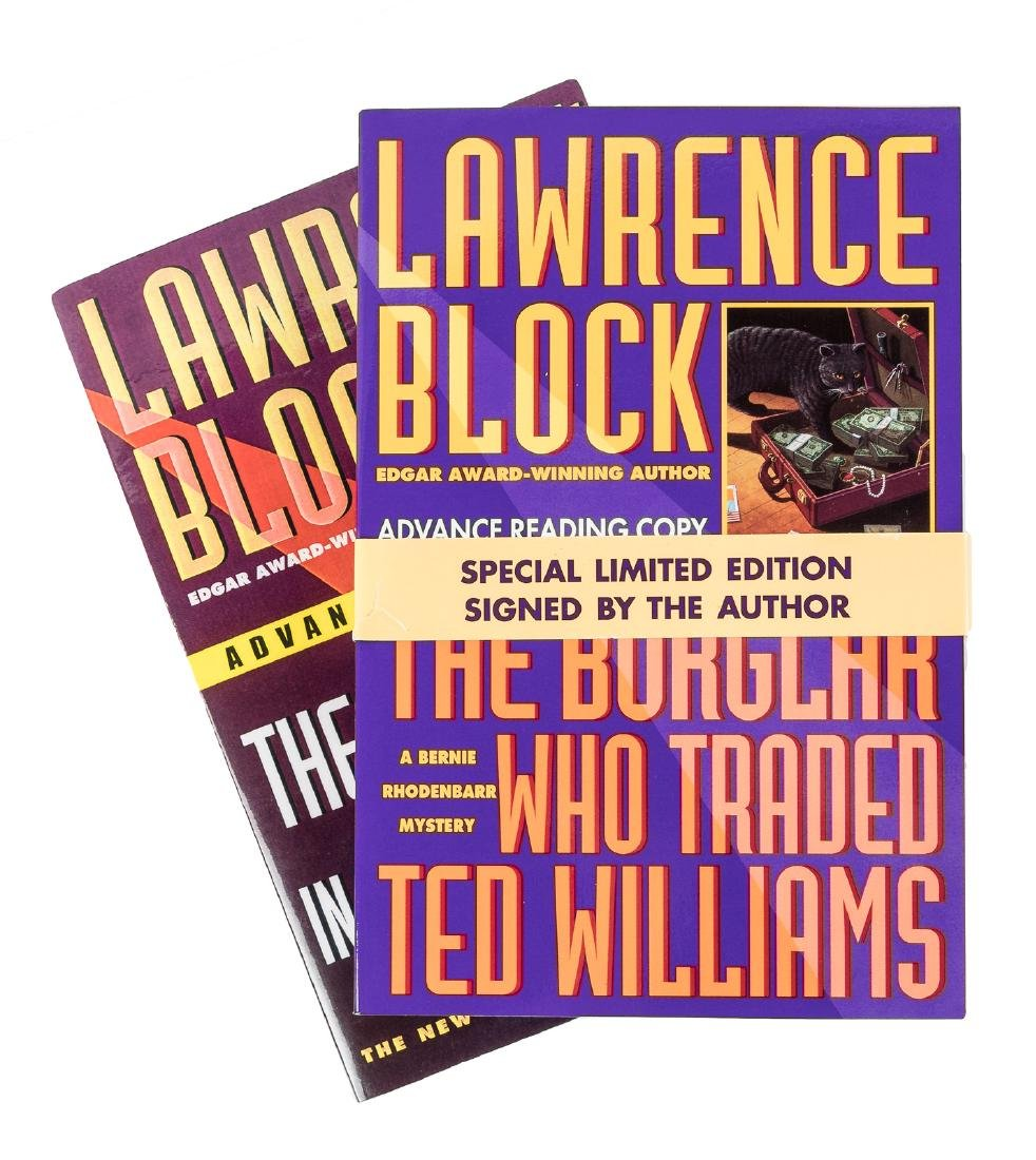 21 advance proof copies signed by Lawrence Block
