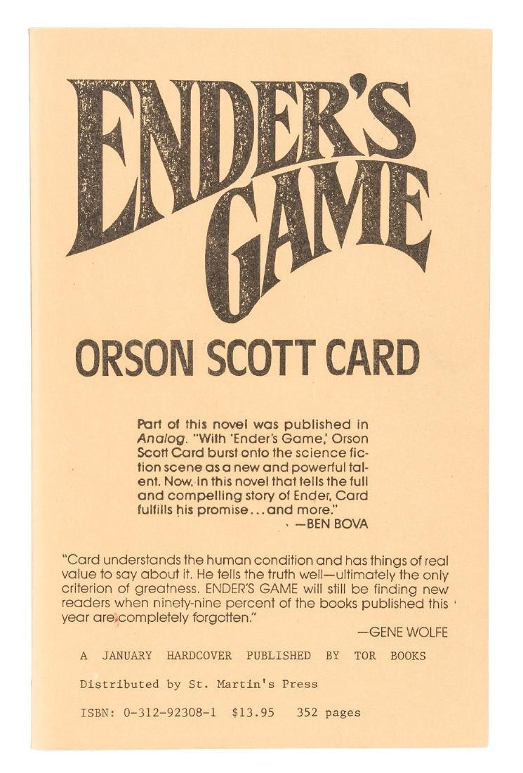 Orson Scott Card Ender's Game Signed Proof Copy