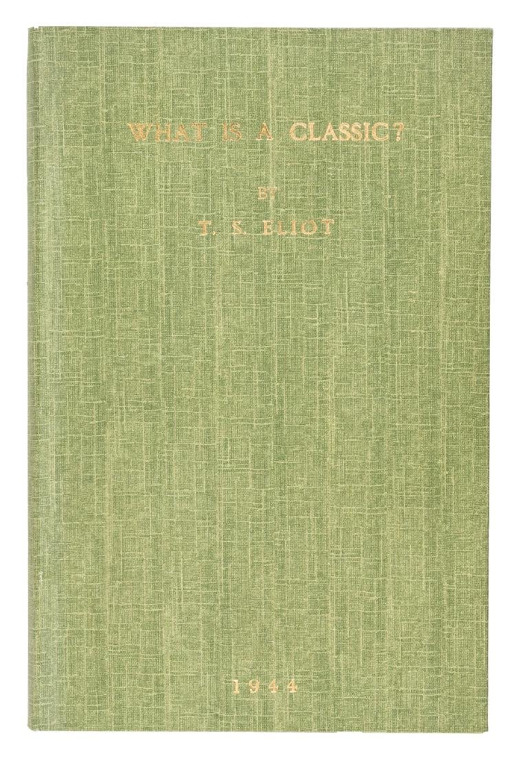 An address by T.S. Eliot delivered to the Virgil