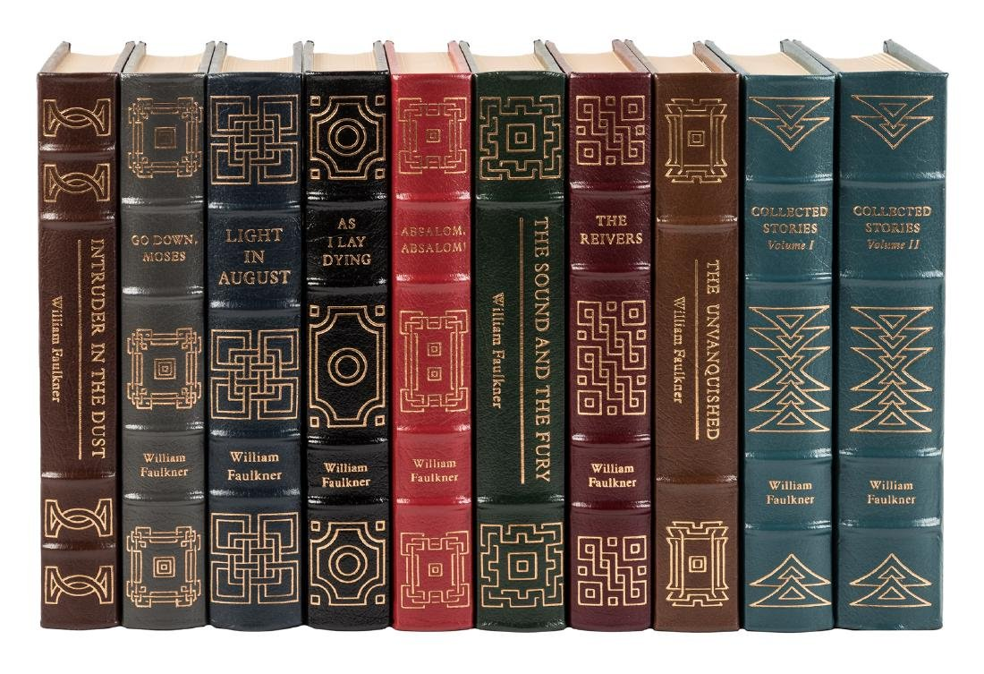 10 volumes by William Faulkner from the Easton Press