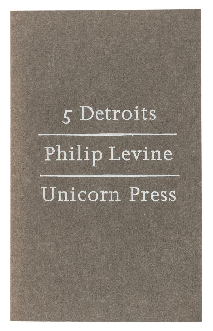 Philip Levine 5 Detroits - signed
