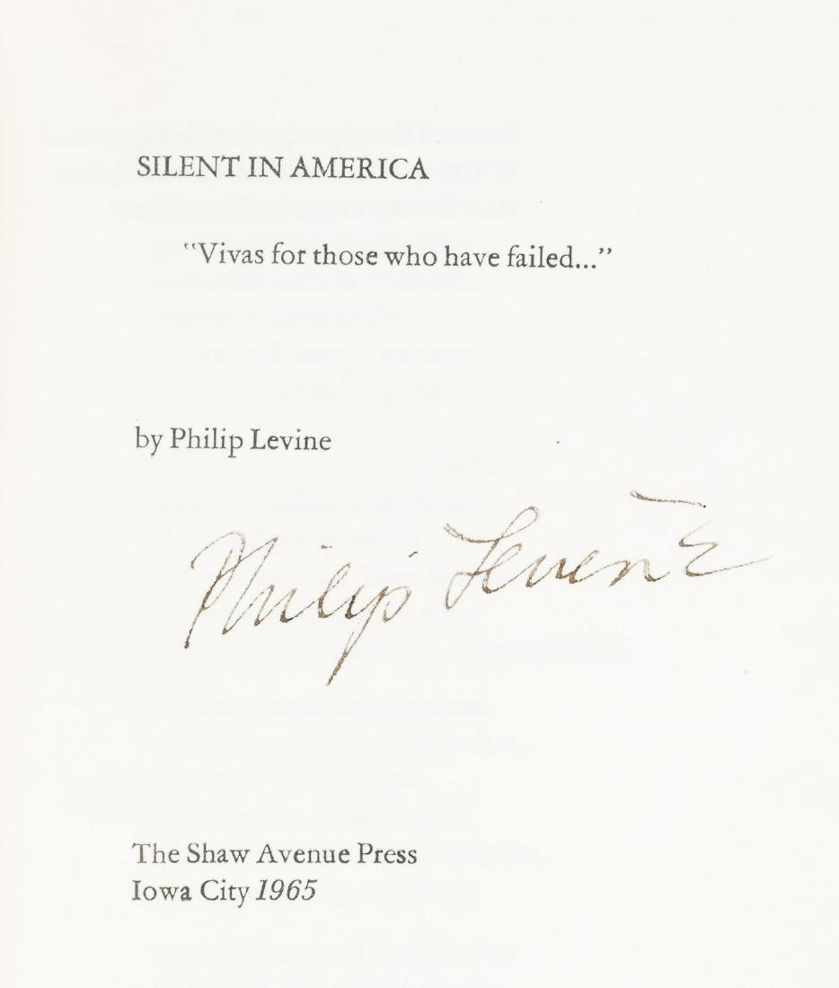 Philip Levine Silent in America 1/47- inscribed