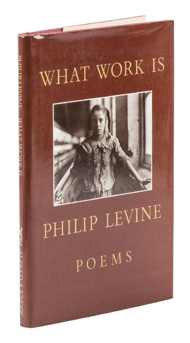 Philip Levine, What Work Is - inscribed