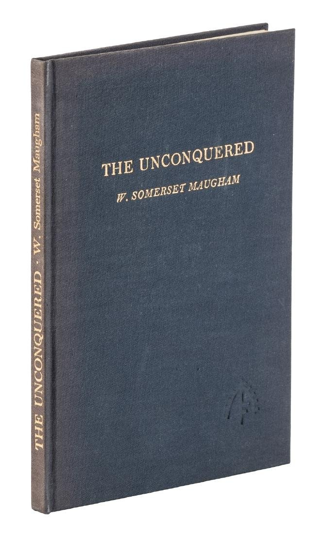 Maugham, The Unconquered, Sgd Ltd 1st Edition
