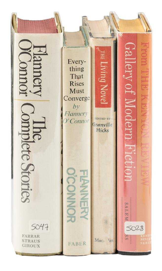 4 first eds of Flannery O'Connor.