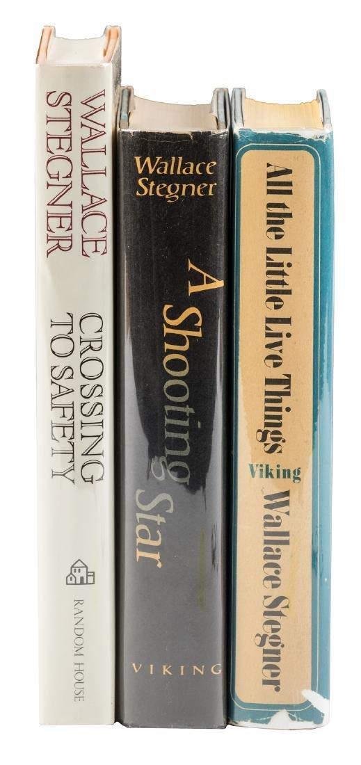Three novels by Stegner signed or inscribed