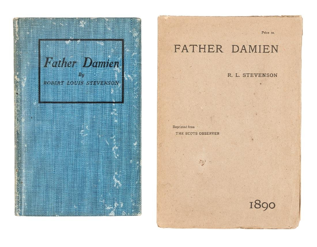 R.L. Stevenson Father Damien first trade issue