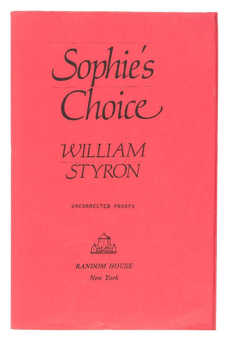 First Edition of Sophie's Choice