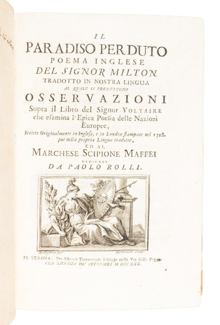 Prohibited 1st Italian edition of Paradise Lost - 2