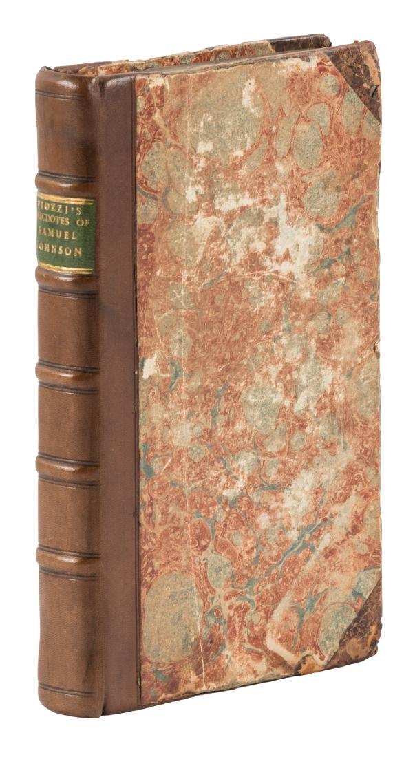 Anecdotes of Samuel Johnson 1786