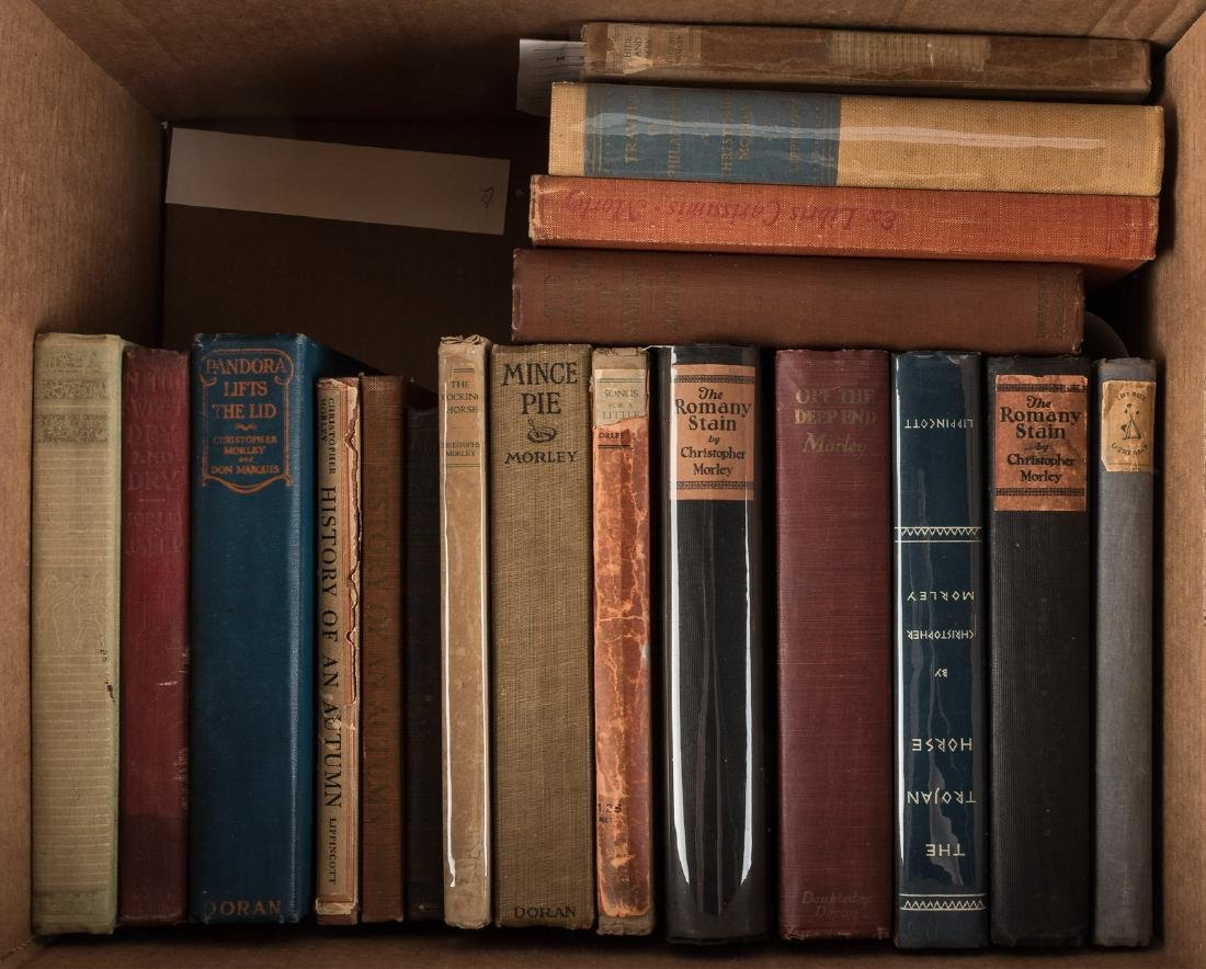 Nineteen volumes by Christopher Morley