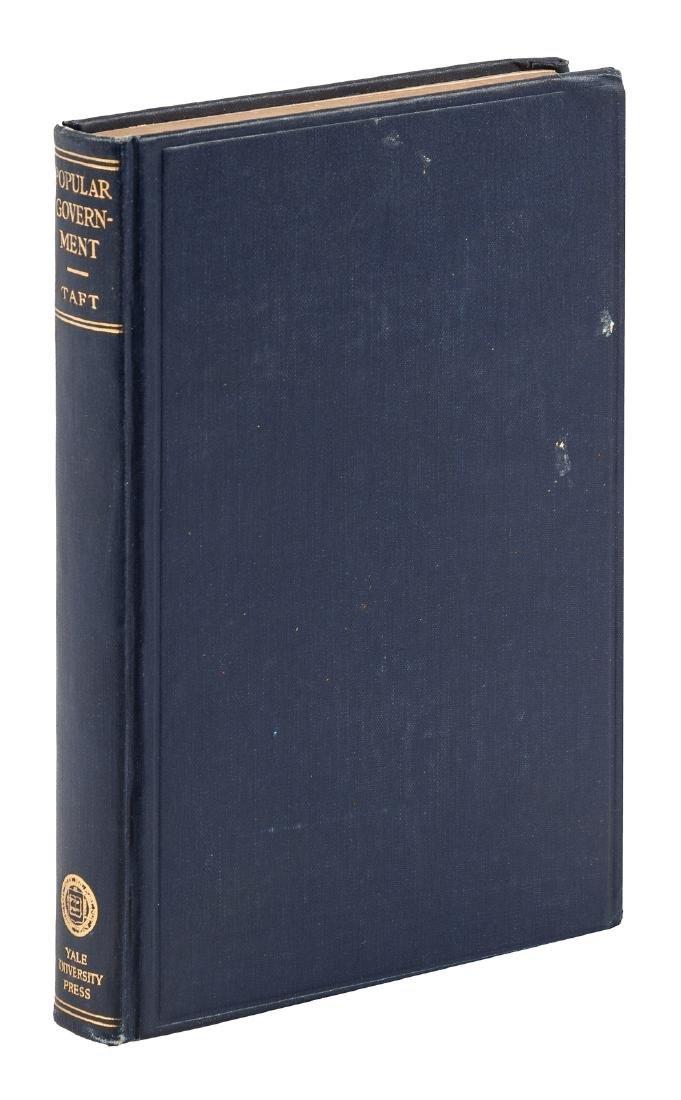 William Howard Taft signed book