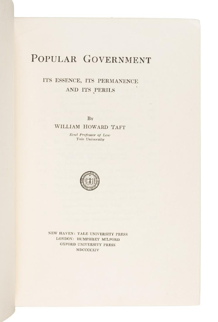 William Howard Taft signed book - 2