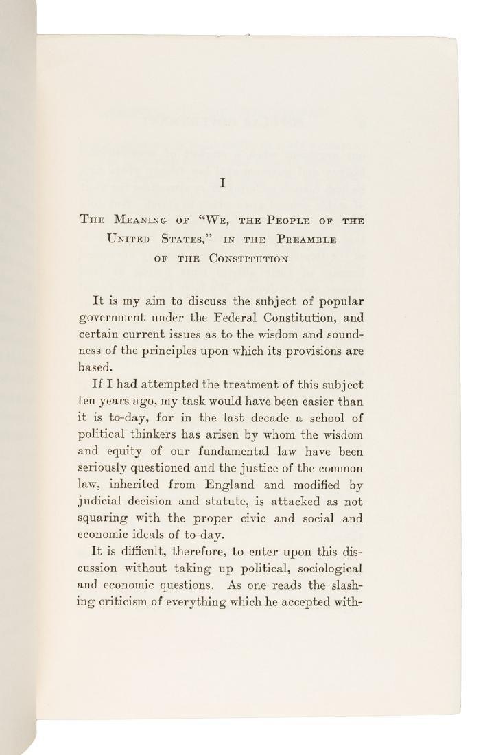 William Howard Taft signed book - 4
