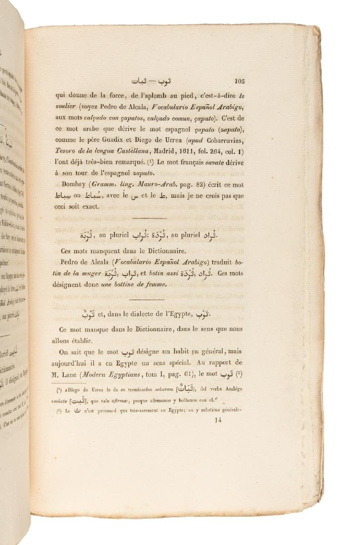 Dictionary of Arab clothing, 1845 - 3