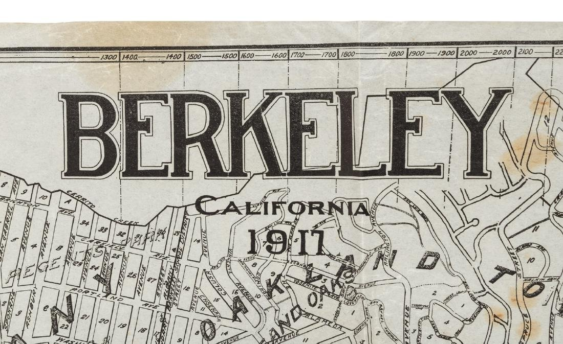 Map of Berkeley highlighting Northbrae Properties, 1917 - 3